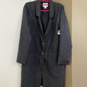 NWT Old Navy Women's Wool Herringbone Coat Peacoat